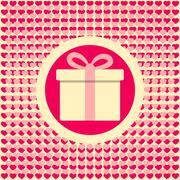Love romantic gift Stock Illustration