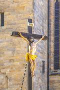 Jesus on the cross at the dome in erfurt Kuvituskuvat