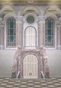 Fairy Tale Palace Entrance Stock Photos