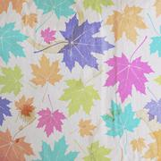 vintage floral autumn (fall) background with maple leaves on the old wrinkled - stock illustration