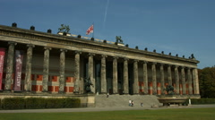 Altes Museum (old museum) on museum island, Berlin Stock Footage