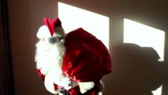 Santa Claus sneaking up Stock Footage