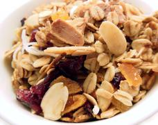 close-up of granola - stock photo