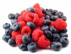 fresh berries in a pile - stock photo