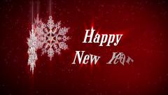 Happy new year background Stock Footage