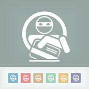 Credit card theft Stock Illustration