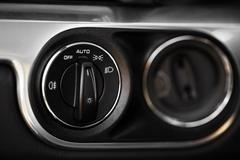 headlights button in car - stock photo