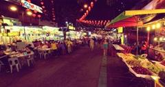 Pasar Malam Kuala Lumpur 4K Stock Footage