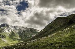A picture from the valley in pyrenees mountians Stock Photos