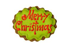 merry christmas in cookies - stock photo