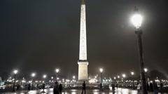 Stock Video Footage of Famous Obelisk at Place de la Concorde