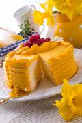 egg liquor cake - stock photo