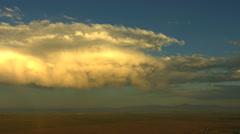 Aerial USA Idaho travel cloud vegetation plains magma - stock footage