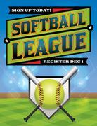 Softball league registration illustration Stock Illustration