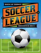 Stock Illustration of soccer league flyer illustration