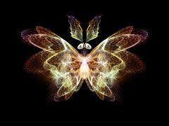 Illusion of Butterfly Stock Illustration