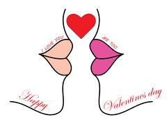 a love kiss - stock illustration