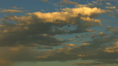 Aerials USA Idaho sunset sky clouds travel cumulus vacation - stock footage
