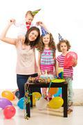 First year birthday of little boy Stock Photos