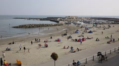 Lyme Regis beach Dorset England UK in Lyme Bay Stock Footage