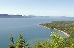 superior lake - stock photo