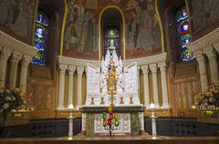 basilica sainte-anne de beaupre - stock photo