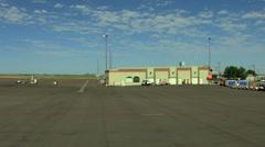 Aerial California USA airport business plane FedEx travel - stock footage
