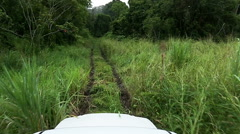 Off Road driving through grass and jungle. HD 720. Stock Footage
