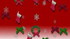 falling christmas objects - stock footage