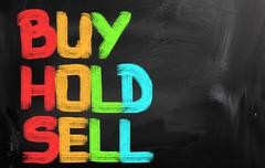 Buy Hold Sell Concept Stock Illustration