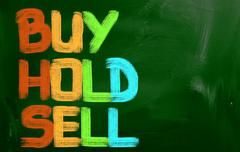 Buy Hold Sell Concept - stock illustration