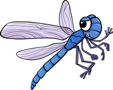 dragonfly insect cartoon illustration - stock illustration