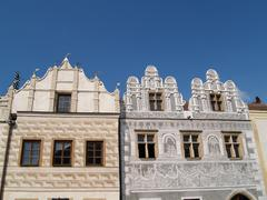 Slavonice, Gothic and Renaissance buildings - stock photo