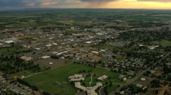 Aerial USA Idaho Twin Falls sunset town residential Stock Footage
