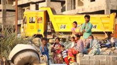 People working at rural area Stock Footage