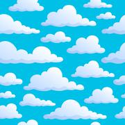 Seamless background clouds on sky - stock illustration