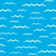 Waves theme seamless background 2 Stock Illustration