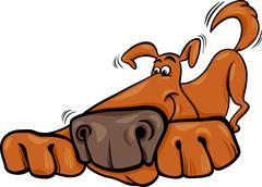Stock Illustration of funny dog cartoon illustration