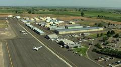 Aerial Idaho USA airport business plane travel - stock footage