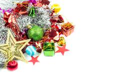 Christmas collection isolated on white Stock Photos