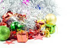 Christmas collection isolated on white background Stock Photos