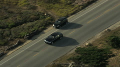 Aerial USA California Monterey Road trip drive travel - stock footage