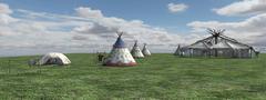 Native American Village Kuvituskuvat