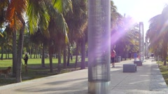 South pointe park 4k Stock Footage