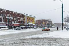 Toronto, chinatown, snow storm Kuvituskuvat