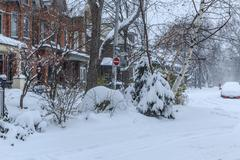 Toronto neighborhood: winter scene Kuvituskuvat