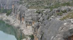 pecos river far pan and tilt 4k - stock footage