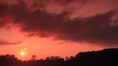 Stock Video Footage of Dark Red Sunset