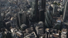 4k london city aerial helicopter flight urban skyline Stock Footage