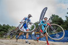 XIX Edition of Valencia City cyclo-cross kicks off Stock Photos
